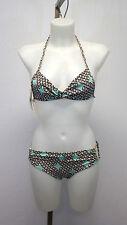 NWT L*Space Bikini | S Top & M Bottom, Brown/Tan/Seafoam, Gold Hardware