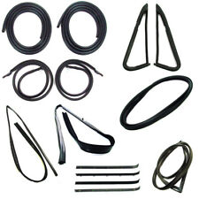 Weatherstrip Kit 1985 1986 Chevy GMC Truck without Trim Groove, Black beltlines