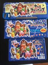 Super Smash Bros Pencil Case Set N64 Rare Japan Figure Nintendo Mario Zelda