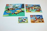 LEGO SYSTEM Lot of 4 Instruction Manuals only Wilderness 6552, 6553, 6487, 6536