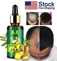 Hair Regrow 7 Day Ginger Germinal Serum Essence Oil Loss Treatement Growth 30ML