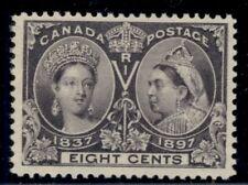 CANADA #56 8¢ dark violet, og, NH, VF+, Miller certificate, Scott $325.00