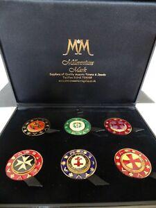 Masonic Firendship Tokens - Millenium Mark - 6 tokens in presentation case