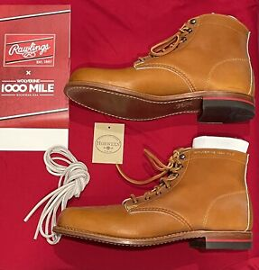 NEW Wolverine LTD 1000 Mile x Rawlings Heart Hide Horween Leather Boots 10.5 D