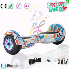 6,5 Hoverboard,Self Balance Scooter Elektroroller E-skateboard,craffiti Weiß