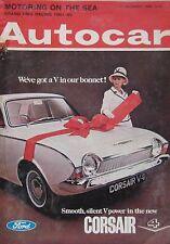 Autocar magazine 10/12/1965 featuring BMC, Ford Corsair GT road test, Mercedes
