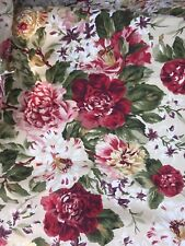 Ralph Lauren Floral Beige Roses Single Full Fitted Sheet, elastic damage fabric