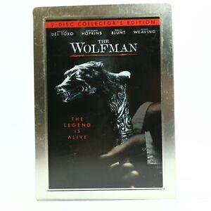 The Wolfman Benicio Del Toro Anthony Hopkins Emily Blunt Steelbook DVD GC