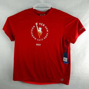 Men's 2017 NYC Marathon NB Ice 2.0 Short Sleeve Red (Very Rare) SIZE XXL