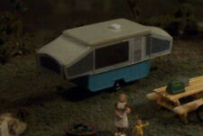 Popup CAMPER Popped up ! N Scale vehicle blue bottom