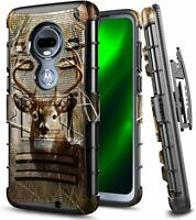 For T-Mobile REVVLRY PLUS Case Armor Holster Belt Clip Kickstand Phone Cover