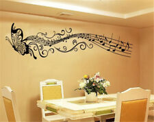 Art Mural Home Decor Room Butterfly Decal Music Notes Wall Sticker Removable