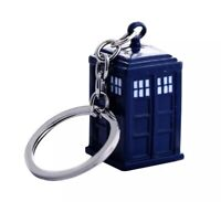 "Doctor Who Tardis Keychain Key Ring Metal 1.5"" US Seller"