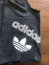 vtg 80s 90s ADIDAS TANK TOP Trefoil Logo Muscle T Shirt black made in the USA XL