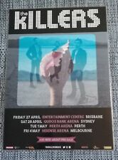 THE KILLERS - 2018 Australia Tour SIGNED AUTOGRAPHED  Poster