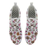 Cat Cute Womens Aqua Shoes Beach Hole Soles Lace Up Barefoot Fast Drying Comfy