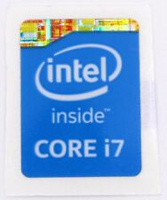 Intel Core i 7 Inside Stickers 15.5 x 21 mm  Logo USA Seller (Pack of 5)