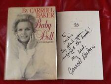 Carroll Baker Signed Autobio James Dean Harlow Giant Liz Rock Gable Baby Doll Hc