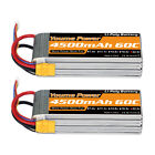 2pcs 22.2V 6S 4500mAh LiPo Battery 60C XT90 for RC Helicopter Airplane Car Truck
