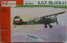 Auster A.O.P.Mk.III/K-61,1:72, AZ Model, RAAF, Israel, Plastik,*NEU*