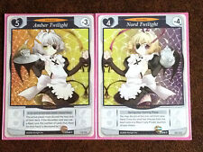 Tanto Cuore Deck Building Game Amber Twilight & Nord Twilight Anime Maid Cards