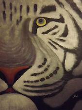 abstract tigre grande pintura al óleo lienzo moderno gato contemporáneo arte