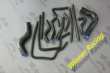For Subaru Legacy BD5/BG5,BE5/BH5 GT/RS twin turbo silicone hose kit 93-03 black