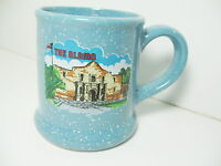 The Alamo Texas Cup Mug Blue Speckled Coffee Tea