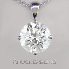 2.00ct Certified Diamond Pendant Brilliant Cut H VS2 Exc Platinum with Chain