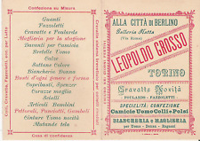 LEOPOLDO GROSSO_TORINO_CRAVATTE_CAMICIE_BIANCHERIA_MAGLIERIA_CINTURE_BRETELLE ..