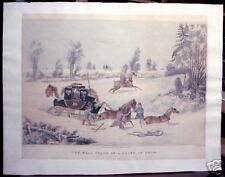 "James Pollard: ""The Mail Coach in a Drift of Snow"" 1825"