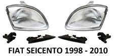 FIAT SEICENTO 0.9 1.1 FRONT HEADLAMPS HEAD LAMP HEADLIGHTS H4 PAIR X2 1998-2010