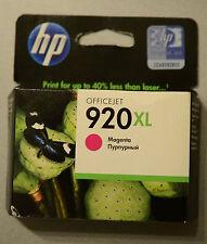 (PRL) HP 920 XL CARTUCCIA INCHIOSTRO INK CARTRIDGE MAGENTA CD973AE BGX SCADUTA