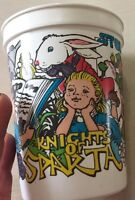 Vintage 1988 Knights Of Sparta Stories Twice Told Souvenir Plastic Cup