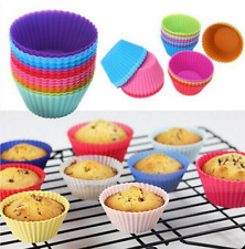 12x Silicone Muffin Case Round Cake Liner Cupcake Chocolate Cup Baking Mold Tool