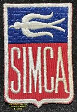 LMH PATCH Badge SIMCA French Automobile Car BIRD Logo Chrysler Peugeot PSA  3.7""