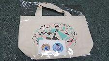 Hatsune Miku Vocaloid- Tote Bag & Pin Set- Type C- Japan Import