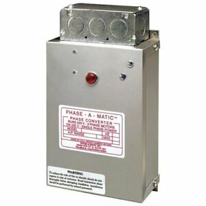 Phase-a-Matic Static Phase Converter #PC-300, 1-3HP, 9.6 Max Amps