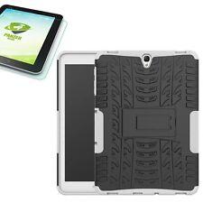Hybrid Outdoor Tasche Weiß für Samsung Galaxy Tab S3 9.7 T820 + 0,4 Hartglas