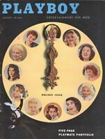 PLAYBOY JANUARY 1957 Cover - 1956 Playmates June Blair Jimmy Durante WOC (1)