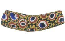 Old African trade bead Elbow Millefiori antique Venetian mosaic glass
