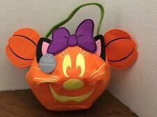 US Disney 2017 Minnie Mouse Trick or Treat Bag Glows in Dark! Halloween! Pumpkin