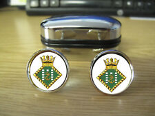 ROYAL NAVAL HOSPITAL PLYMOUTH CUFFLINKS (IMAGE BLURRED TO PREVENT WEB THEFT)