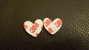 Self Adhesive Magnetic tape dots discs with 3M backing 25mm HEART SHAPE  x 10
