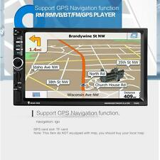 "7"" HD Touch Screen Double 2DIN Car GPS Navi Stereo DVD Player Bluetooth Radio TV"