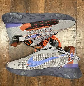 Nike React ISPA Wolf Grey Sapphire Dusty Peach [CT2692-001] Men's Size 9.5