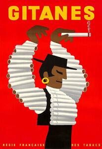 Cigarette Cigarettes Tobacco Gitanes Dancer  Art Poster Print