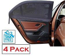Car Side Window Sun Shade 4 Pack Adjustable Fit Visor Mesh Sunshade Auto SUV New