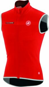 Castelli Fawesome 2 Cycling Vest - Windstopper X-Lite Plus - Men's Large - Red