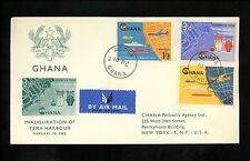 Postal History Ghana FDC #110, C3-C4 Tema Harbour Water Ship Port 1962